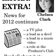 Promo Postcards - Chelsea Clark's More News for 2012