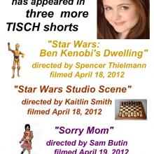 Promo Postcards - Chelsea Clark in 3 NYU Tisch shorts