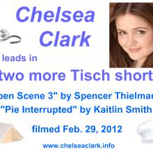 Promo Postcards - Chelsea Clark in 2 NYU Tisch shorts