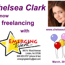 Postcards - Chelsea Clark freelancing with Emerging Talent