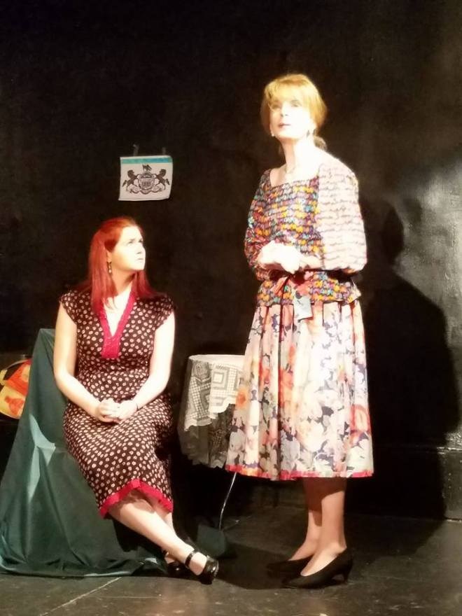 Chelsea Clark and Monika Voel in The Glass Menagerie at the Simon Studio