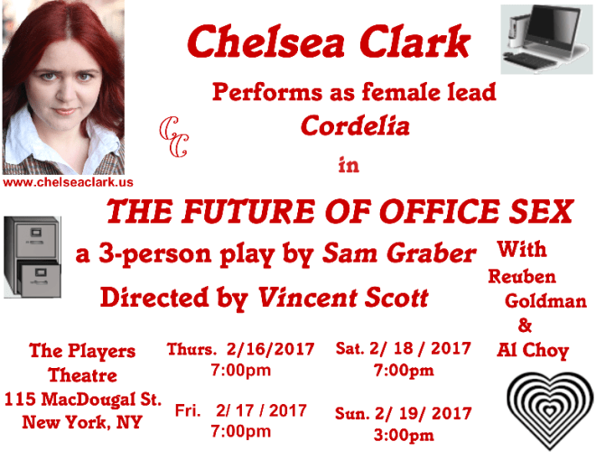 Chelsea Clark as Cordelia in Sam Graber's THE FUTRUE OF OFFICE SEX