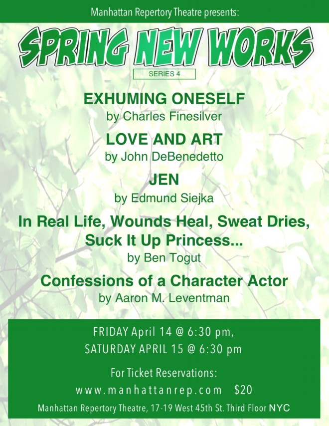 Spring New Works Series 3 at Manhattan Repertory Theatre