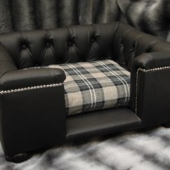 Leather Or Fabric Sofa For Dogs Reviews Real Dog Sofas Luxury Beds Black Bed With Cushion