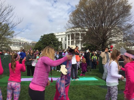 Handstands on the White House lawn!