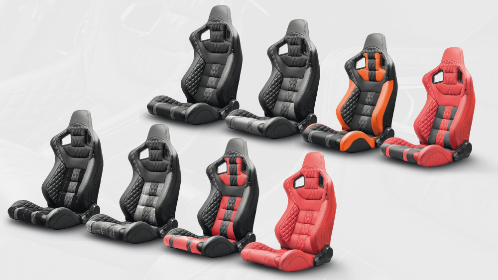 Front GTB Sport Seat in Quilted & Perforated Leather - Single