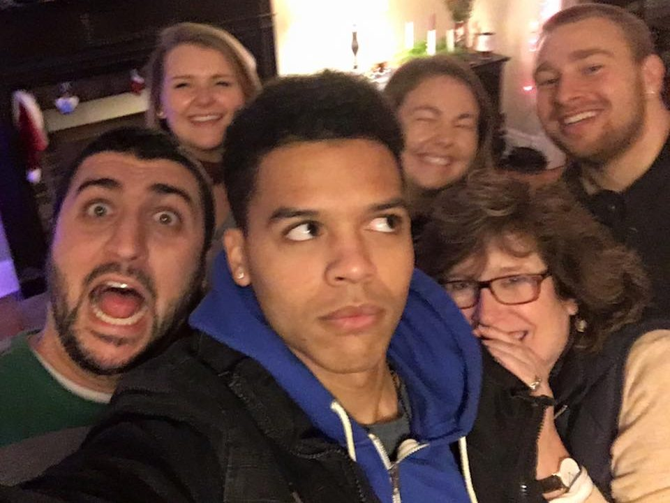 Young Adult goofy groufie