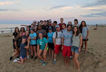 Beach trip group photo