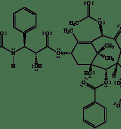 bond line structural representation of taxol paclitaxel an anticancer drug  [ 1800 x 1239 Pixel ]
