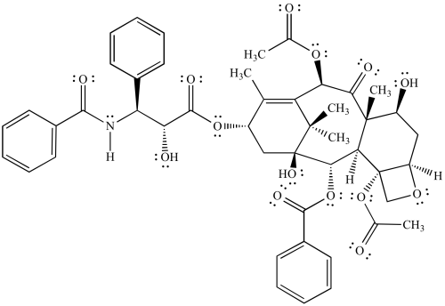small resolution of bond line structural representation of taxol paclitaxel an anticancer drug