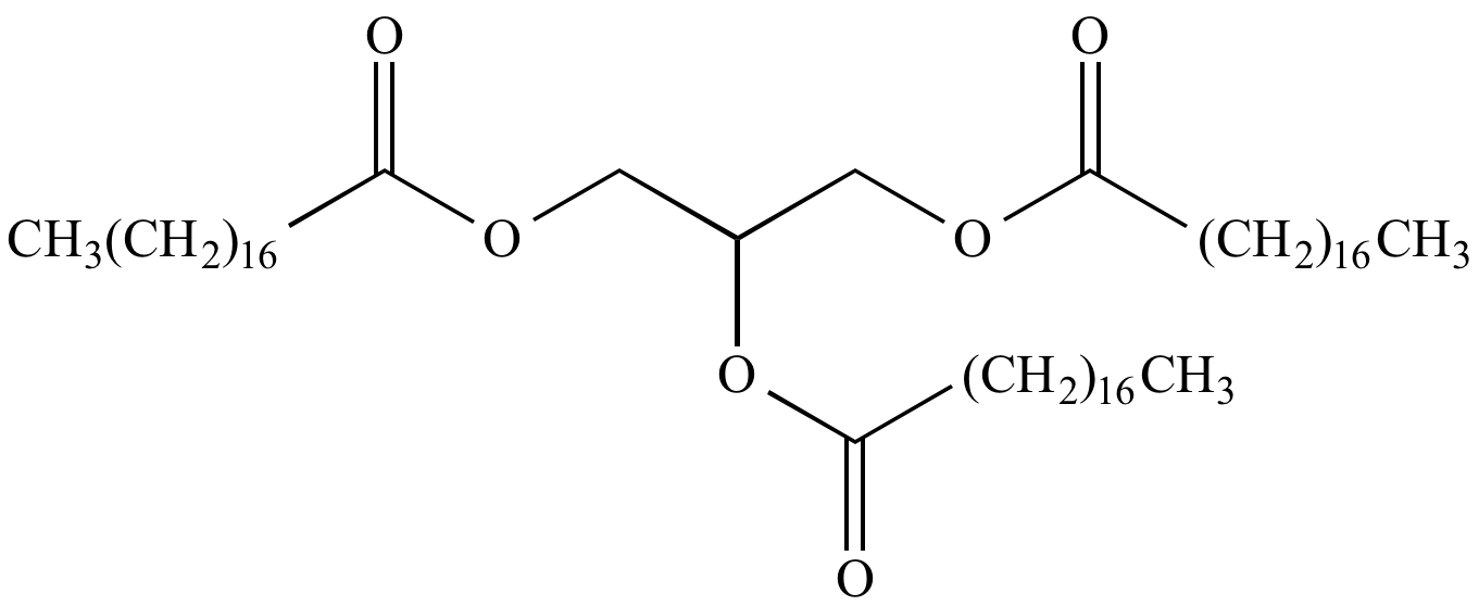 fat structure diagram 2008 honda accord fuse box illustrated glossary of organic chemistry glycerol tristearate molecular shown here an ester and stearic acid is a with melting point 54 72 5 oc