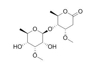 6-Deoxy-3-O-methyl-beta-allopyranosyl(1-4)-beta-cymaronic