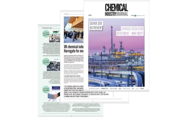 Chemical Industry Journal – CHEMUK 2019 PREVIEW