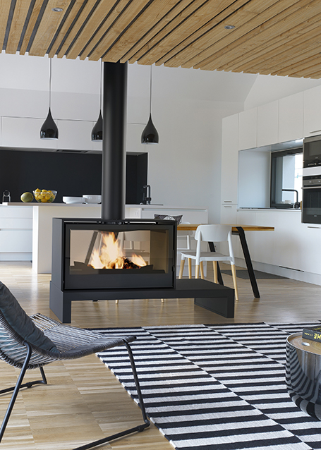 Wood Stoves Poele 1000 Double Face Chemin 233 Es Axis