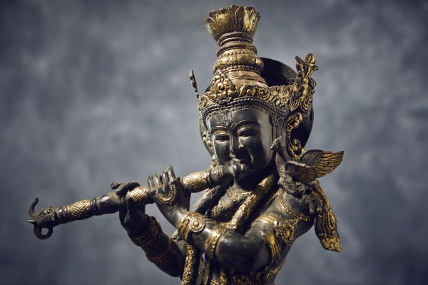 krishna en bronze
