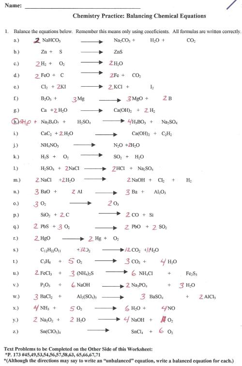 small resolution of 30 111 Describing Chemical Reactions Worksheet Answers - Worksheet Resource  Plans