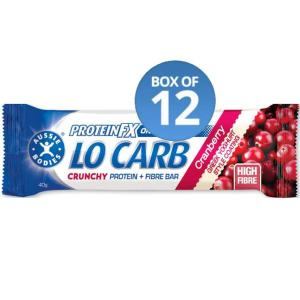 Aussie Bodies Protein FX Lo Carb Crunchy Fibre Protein Bars 40g (Box of 12)