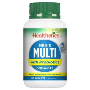 Healtheries Men's Multi – Energy & Performance 100 tablets