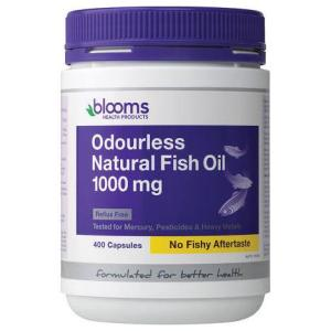 Blooms Omega 3 Odourless Natural Fish Oil 1000mg 400 Capsules