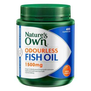 Odourless Fish Oil 1500mg 400 Capsules – Natures Own