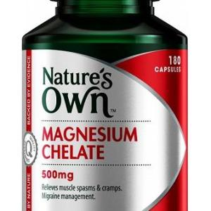 Magnesium Chelate 500mg 180 Capsules – Natures Own