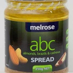 ABC (Almond Brazil Nut & Cashew) Spread 250g – Melrose