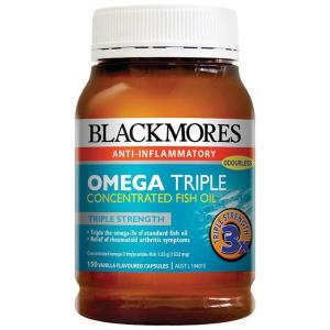 Blackmores Omega Triple Concentrate Fish Oil 150 Capsules