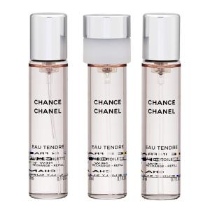 Chanel Fragrance Chance Eau Tendre Twist and Spray Eau 20ml, 3pcs