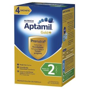 Aptamil Gold Plus 2 Follow-On Formula (From 6-12 Months) Sachets 30.8g X 4