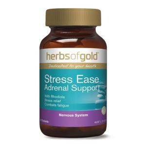 Herbs Of Gold Stress Ease Adrenal Support 60 Tablets