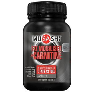 Musashi Fat Metaboliser + With Carnitine Cap X 75