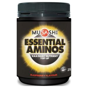 Musashi Essential Amino Raspberry 250g (Best Before 28/2/2016)