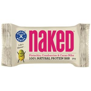 Aussie Bodies Naked Pistachio Cranberries & Cacao Nibs 30g X 12