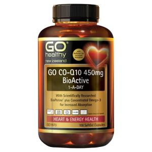 GO Healthy Go Co-Q10 450mg BioActive 1-A-Day 30 softgels