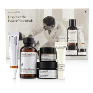 Perricone MD Discover The Power Essentials Kit: Nutritive Cleanser+Firming Activator+Finishing Moisturizer+Eye Cream+Vitamin C Ester 5pcs Skincare