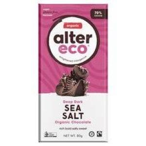 Alter Eco Chocolate Sea Salt 70% Chocolate 80gm