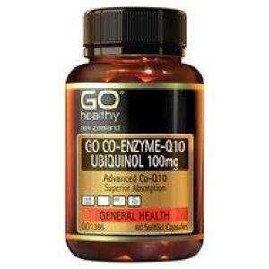 GO Healthy Go Co-Q10 Ubiquinol 100mg – Advanced Heart Support 30 softgels
