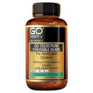 GO Healthy Go Colostrum Chewable Bears 120 chewable tablets