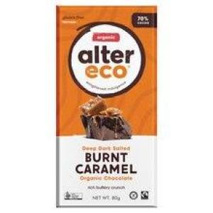 Alter Eco Chocolate Burnt Caramel 70% Chocolate 80gm