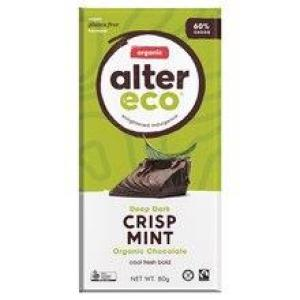 Alter Eco Chocolate Crisp Mint Chocolate 80gm