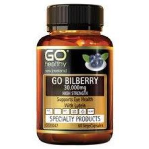 GO Healthy GO Bilberry 30,000 60 vegecaps