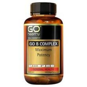 GO Healthy Go B Complex – Maximum Potency 120 vegecaps