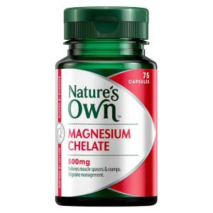 Nature's Own Amino Acid Chelated Magnesium 500mg Cap X 75