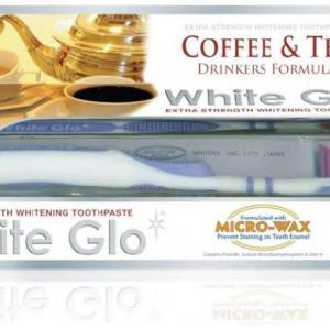 White Glo Extra Strength Whitening Toothpaste Coffee & Tea Drinkers Formula 150g