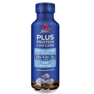 Atkins Plus Protein Low Carb Ready To Drink Shake (Iced Coffee) 400ml
