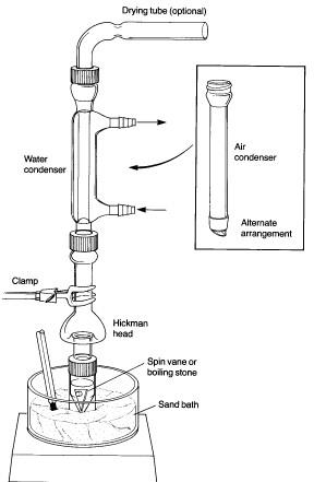Fractional semi microscale distillation. Experiment 3B