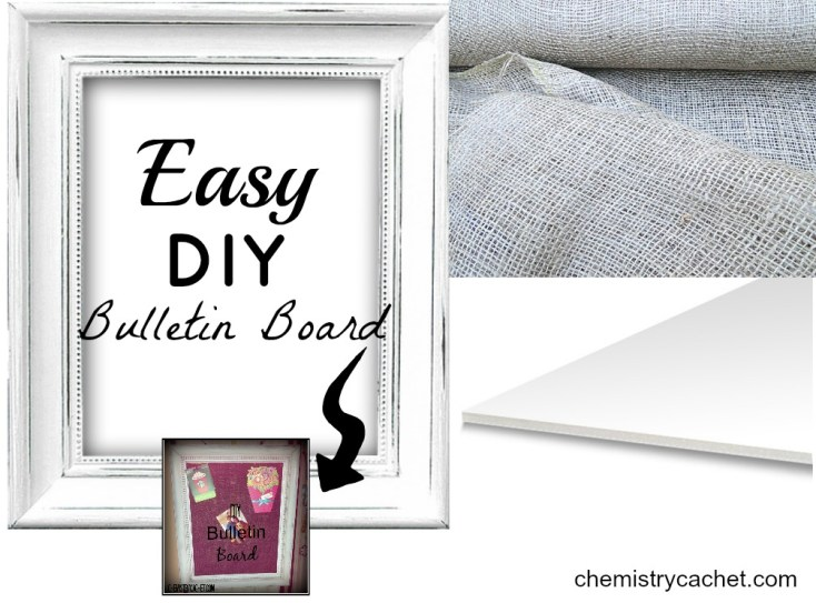 Easy DIY Bulletin Board Chemistry Cachet