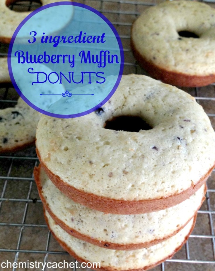Easy 3 ingredient blueberry muffin donuts! Quick & Delicious on chemistrycachet.com