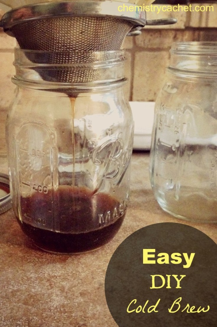A chemist's take on cold brew coffee! Easy and more affordable than buying your own! on chemistrycachet.com