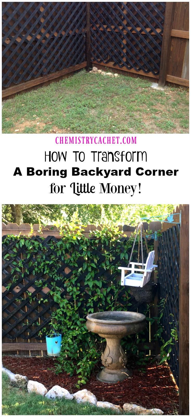 How To Transform A Boring Backyard Corner for Little Money!